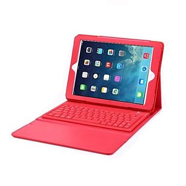 Voor Hoesje cover met standaard met toetsenbord Flip Volledige behuizing hoesje Effen Kleur Hard PU-leer voor iPad Air