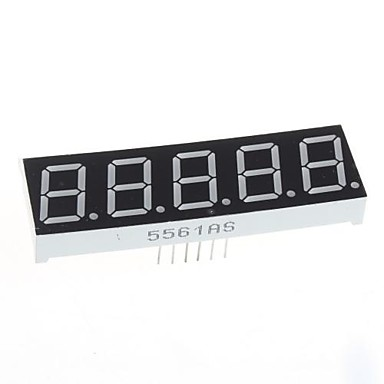 compatibile (per arduino) modulo display 5 cifre - 0.56in.