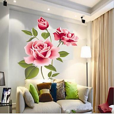 κινέζικο στυλ ζωντανή ανθίσει αυτοκόλλητο PVC τοίχο