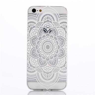 Capinha Para iPhone 5 Apple Capinha iPhone 5 Ultra-Fina Transparente Estampada Capa traseira Mandala Macia TPU para iPhone SE/5s iPhone 5