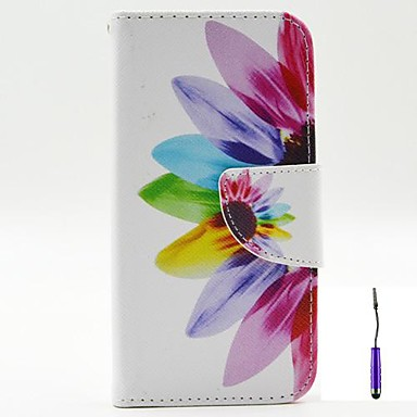 Para Capinha Motorola Carteira / Porta-Cartão / Com Suporte / Flip Capinha Corpo Inteiro Capinha Flor Rígida Couro PU Motorola