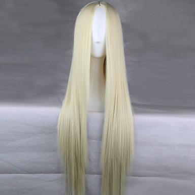 Συνθετικές Περούκες Πυκνότητα Γυναικεία Ξανθό Καρναβάλι περούκα Απόκριες Περούκα Μακρύ Συνθετικά μαλλιά