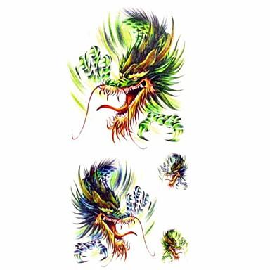 Tatoeagestickers - Patroon/Onderrrug/Waterproof - Dieren Series - voor Dames/Volwassene/Tiener - Meerkleurig - Papier - 1 - stuks 18.5*8.5cm