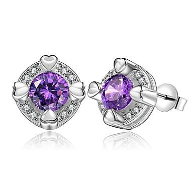 Pentru femei Fete Cercei Stud Cristal Design Circular Argilă Round Shape Bijuterii Pentru Nuntă Petrecere Zilnic Casual