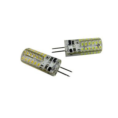 2pcs 2.5W 200-250 lm G4 LED Mısır Işıklar T 48 led SMD 3014 Sıcak Beyaz Serin Beyaz DC 12V