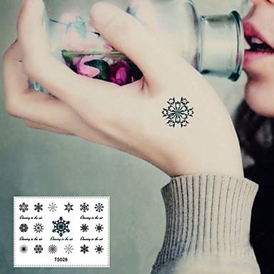 1 pcs Dövme Etiketleri geçici Dövme Çiçek Serisi Pürüzsüz Etiket / Tek Kullanımlık body Art Vücut / bilek / ayak bileği