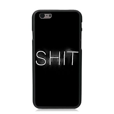 Capinha Para Apple iPhone 8 iPhone 8 Plus iPhone 6 iPhone 6 Plus iPhone 7 Plus iPhone 7 Estampada Capa traseira Palavra / Frase Rígida PC