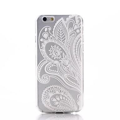 Pouzdro Uyumluluk Apple iPhone 6 iPhone 6 Plus Yarı Saydam Arka Kapak Çiçek Yumuşak TPU için iPhone 6s Plus iPhone 6s iPhone 6 Plus