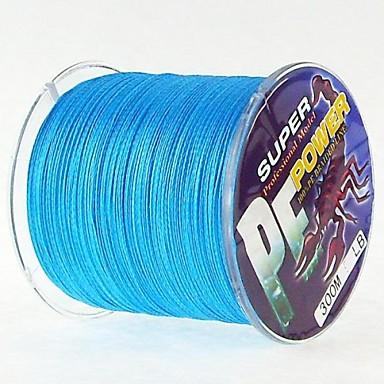 300M / 330 Yards PE Gevlochten Lijn / Dyneema Vislijn Blauw 40LB / 45LB / 30LB / 50LB 0.26mm,0.29mm,0.30mm,0.32mm mm VoorZeevissen /