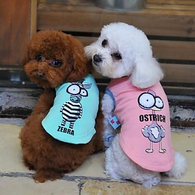 Cachorro Camiseta Roupas para Cães Desenhos Animados Preto Cinzento Amarelo Verde Ocasiões Especiais Para animais de estimação