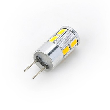300-400 lm G4 LED Σποτάκια / LED Φώτα με 2 pin 10 LED χάντρες SMD 5730 Θερμό Λευκό / Ψυχρό Λευκό 12 V / 1 τμχ / RoHs