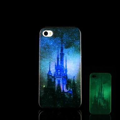 Voor iPhone 5 hoesje Glow in the dark hoesje Achterkantje hoesje Stadsgezicht Hard PC iPhone SE/5s/5