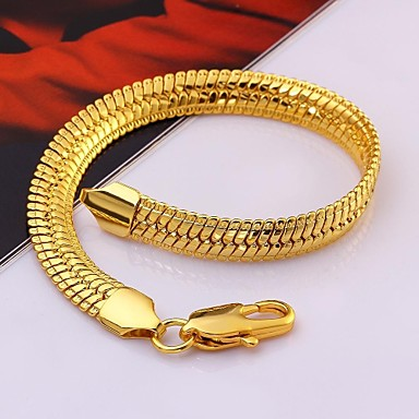 Dames Armbanden met ketting en sluiting Verguld Sieraden Voor Bruiloft Feest Dagelijks Causaal 1 stuks
