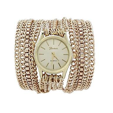 Mulheres Relógio de Moda Bracele Relógio Quartzo Lega Banda Preta Prata Dourada
