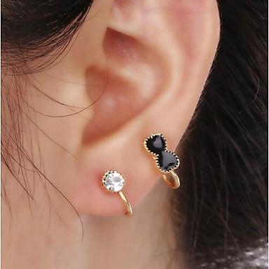 Punhos da orelha imitação de diamante Liga Formato de Laço Jóias Para Casamento Festa Diário Casual 1peça