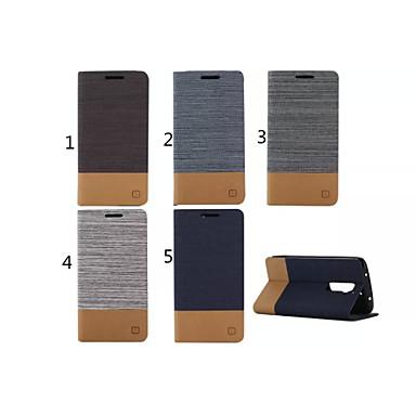 Para Capinha LG Porta-Cartão / Carteira / Com Suporte / Flip Capinha Corpo Inteiro Capinha Cor Única Rígida Couro PU LG LG G7