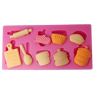 de molde de silicone utensílios de cozinha queque molde superior
