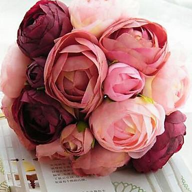 Yapay Çiçekler 1 şube Düğün Çiçekleri Güller Masaüstü Çiçeği
