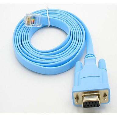 billige Kabler og adaptere-Rs232 Db9 Com Seriel Port På Rj45 Kabel Hoved Dataledning Skifte Konfigurationen Linje