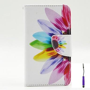 hoesje Voor LG L90 LG G3 Mini LG G3 LG L70 LG LG hoesje Kaarthouder Portemonnee met standaard Flip Volledige behuizing Bloem Hard PU-nahka