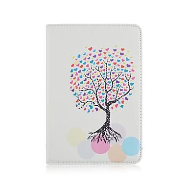 Για Θήκες Καλύμματα με βάση στήριξης Οριγκάμι Περιστροφή 360° Πλήρης κάλυψη tok Δέντρο PU Δέρμα για iPad Air