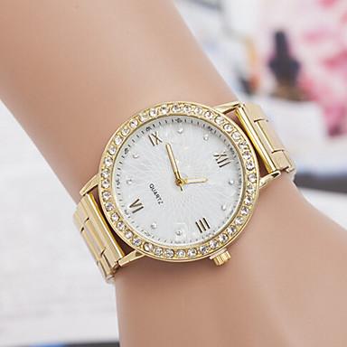 yoonheel Γυναικεία Μοδάτο Ρολόι Προσομοίωσης Ρόμβος Ρολόι Χαλαζίας απομίμηση διαμαντιών Μέταλλο Μπάντα Χρυσό Χρυσαφί