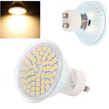 GU10 LED Σποτάκια 60LED leds SMD 3528 Θερμό Λευκό Ψυχρό Λευκό 300-560lm 2800-3500/6000-6500K AC 220-240V
