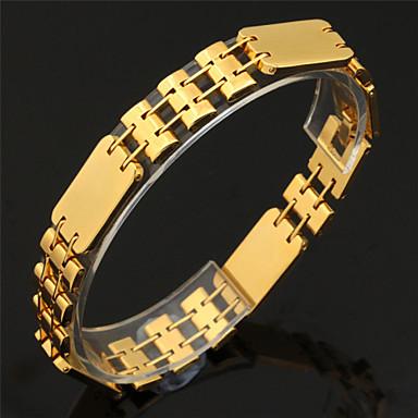Heren Dames Armbanden met ketting en sluiting Platina Verguld Verguld Legering Sieraden Voor Bruiloft Feest Dagelijks Causaal Sport
