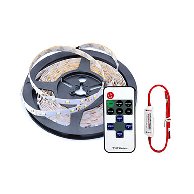 ZDM 1PC  5m Flexible LED Light Strips 300 x 2835 SMD  LEDs with  11 Keys Remote Controller  Warm White / White / Red /Blue Light Sets