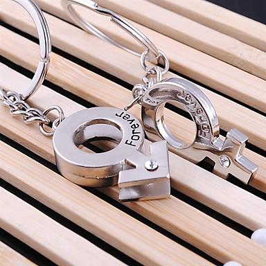 אוהב את מחזיק מפתחות טבעת לנצח חתונה מפתח לחג אהבת מאהב (זוג אחד)