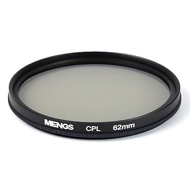 mengs® 62mm CPL circulair polarisatiefilter beschermer met aluminium frame voor digitale camera's en SLR / DSLR / dc / camcorder