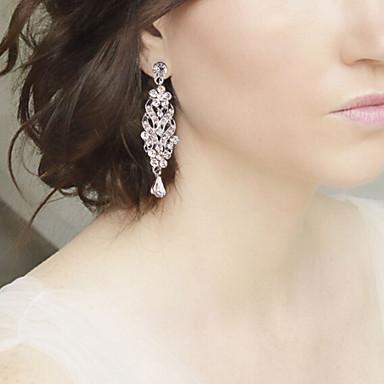 Σκουλαρίκι Κρεμαστά Σκουλαρίκια Κοσμήματα 1pc Γάμου / Πάρτι Κρύσταλλο / Κράμα / Απομίμηση Μαργαριταριού / Στρας / Επάργυρο Γυναικεία Ασημί