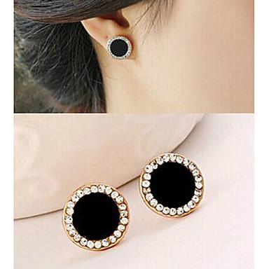 여성용 라인석 스터드 귀걸이 - 블랙 귀걸이 제품 파티 스포츠