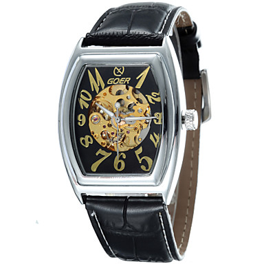 mechanische horloges Automatisch opwindmechanisme Band Wit Zwart