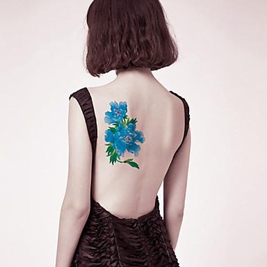 Tatuagens Adesivas Série Florida não tóxica Tribal Lombar Á Prova d'água Feminino Masculino Adulto Adolescente Tatuagem Adesiva Tatuagens