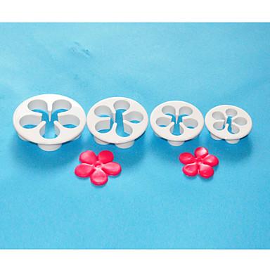 four-c plastic daisy taart snijder, fondant sugarcraft, taart decoratie tools set