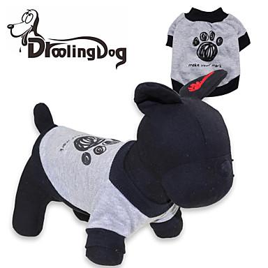 Kat Hond T-shirt Hondenkleding Cartoon Grijs Kostuum Voor huisdieren