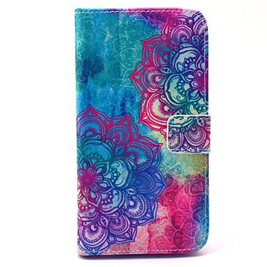 Case For Samsung Galaxy Samsung Galaxy Case Card Holder Wallet with Stand Flip Full Body Cases Flower PU Leather for S6 S5 Mini S5 S4 S3