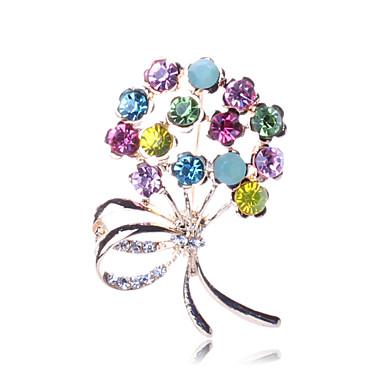 moda broches de cristal da Boêmia