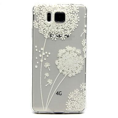 μοτίβο πικραλίδα διαφανές ζωγραφισμένα ανακούφιση υλικό TPU τηλέφωνο κέλυφος για το Samsung Galaxy άλφα g850