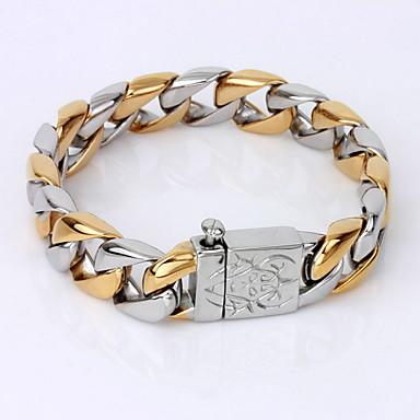 voordelige Fijne Sieraden-Heren Armbanden met ketting en sluiting Uniek ontwerp Vintage Feest Werk Informeel Verguld Armband sieraden Schermkleur Voor