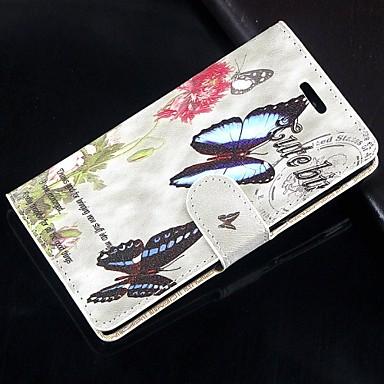 tok Για Samsung Galaxy Samsung Galaxy Note Θήκη καρτών Πορτοφόλι με βάση στήριξης Ανοιγόμενη Πλήρης Θήκη Πεταλούδα PU δέρμα για Note 4