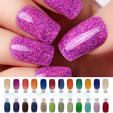 Esmalte Gel UV 0.008 1 Glitters UV Color Gel Clássico De Mergulhar para Longa Proteção Diário Glitters UV Color Gel Clássico Alta