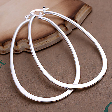 Dames Ring oorbellen Modieus Opvallende sieraden Kostuum juwelen Koper Verzilverd Geometrische vorm Sieraden Voor Feest Dagelijks Causaal