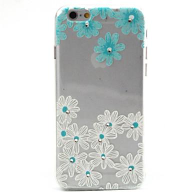 Pouzdro Uyumluluk Apple iPhone 6 iPhone 6 Plus Şeffaf Temalı Arka Kapak Çiçek Yumuşak TPU için iPhone 6s Plus iPhone 6s iPhone 6 Plus