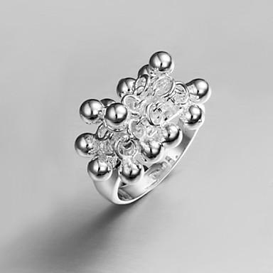Vintage / Bájos / Party / Munkahelyi / AlkalmiHangsúlyos gyűrű(Sterling ezüst