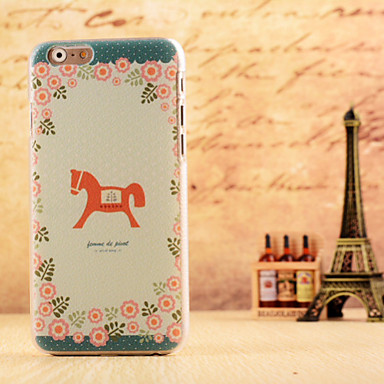 paardje patroon dermatoglyf harde geval dekking voor iPhone 6