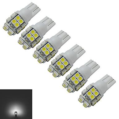 6pcs 1.5 W 85 lm 20 LED Boncuklar SMD 3528 Serin Beyaz 12 V / 6 parça