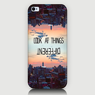 Para Capinha iPhone 5 Case Tampa Estampada Capa Traseira Capinha Paisagem Urbana Rígida PC para iPhone SE/5s iPhone 5