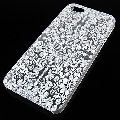 Para Capinha iPhone 5 Case Tampa Transparente Capa Traseira Capinha Design de Renda Rígida PC para iPhone SE/5s iPhone 5